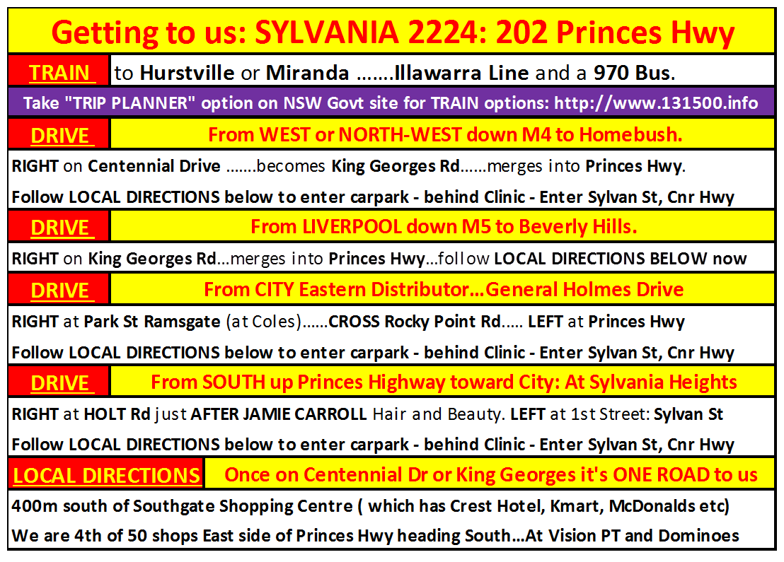 GET TO SYLVANIA DIRECTIONS